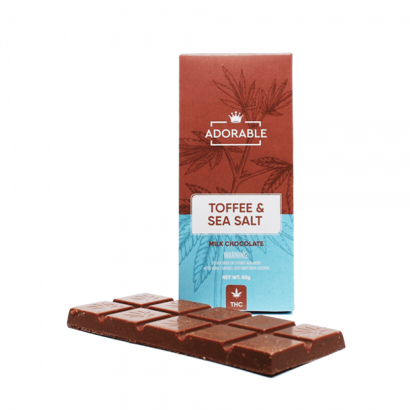 Adorable Toffee & Sea Salt Milk Chocolate Bar - 200mg