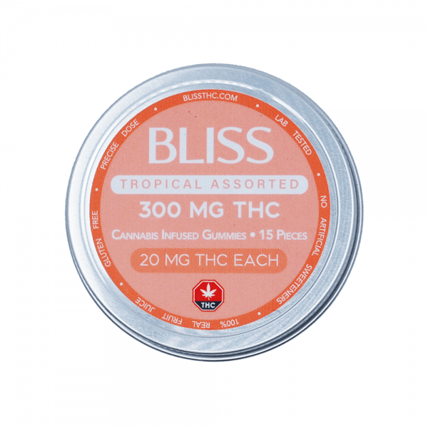 Bliss - Tropical Assorted Gummies - 300mg