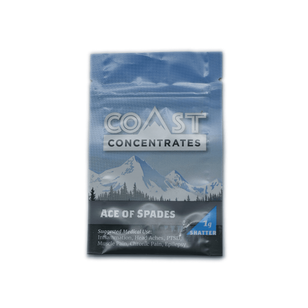 Coast Concentrates Shatter | Ace of Spades 1g