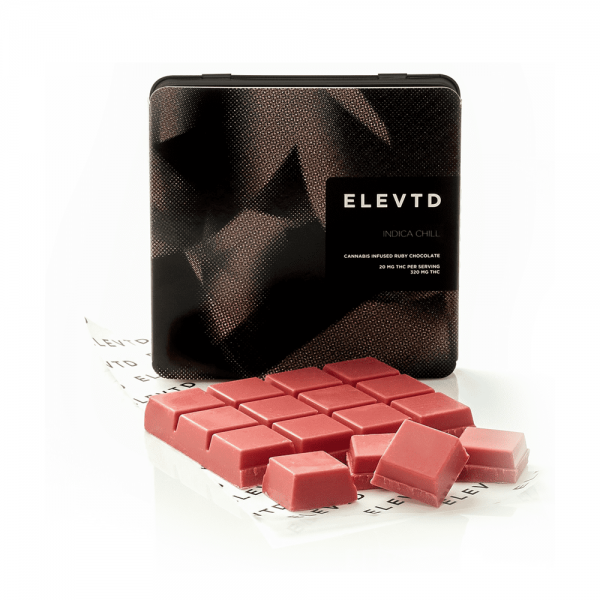 ELEVTD Ruby Belgium Chocolate INDICA | CHILL (320mg THC)
