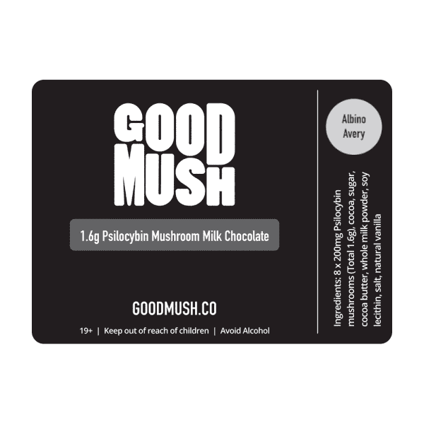 GoodMush – 1.6g Shroom (Psilocybin) Milk Chocolate Bar