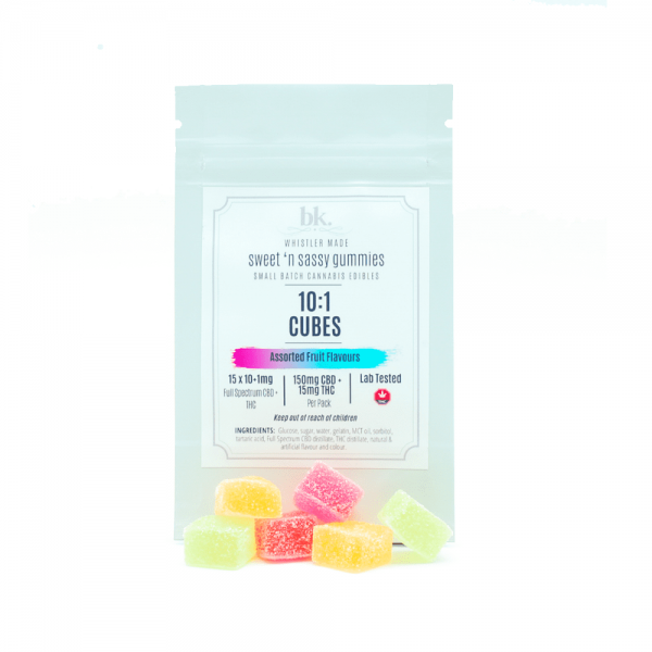 bk. - CBD:THC Fruit Gummies - 10:1/CBD:THC 165mg