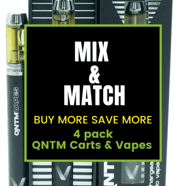 Mix and Match 4 Pack QNTM Vapes and Carts
