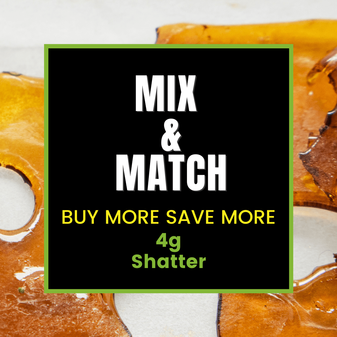 Mix and Match 4g THC Shatter