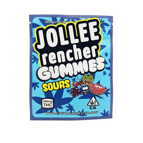 Medicated Jolly Ranchers Jollee Rencher Sour Gummies 600mg